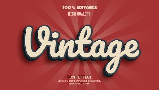 Editable text effect, vintage text style