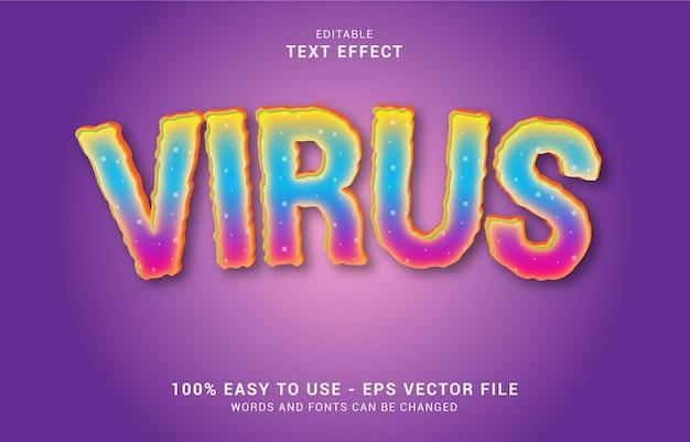 편집 가능한 텍스트 효과, 바이러스 스타일을 사용하여 제목 만들기