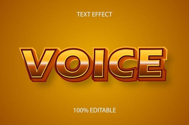 Editable text effect voice color brown