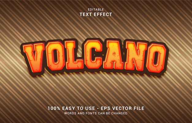 Editable text effect, volcano style can be use to make title
