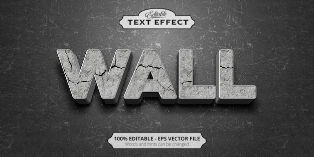 Editable text effect, wall text