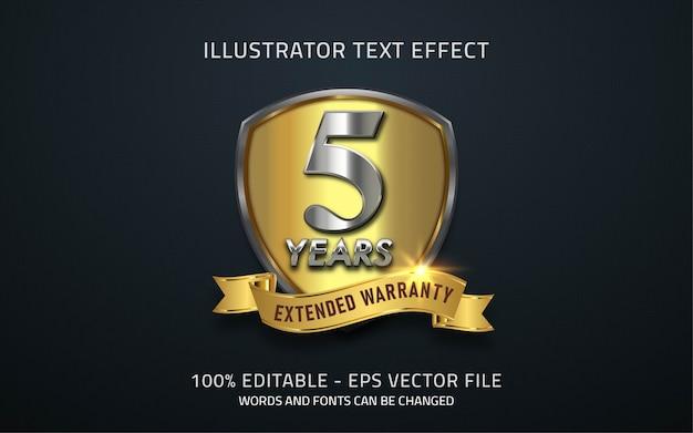 Редактируемый текстовый эффект, иллюстрации в стиле гарантии