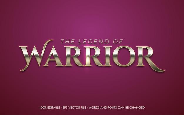 Editable text effect warrior style