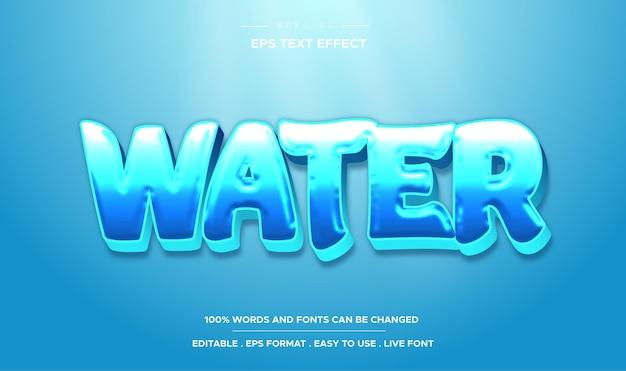 Редактируемый текстовый эффект в стиле воды