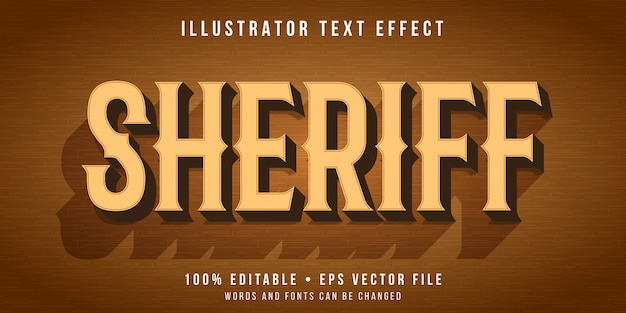 Editable text effect - wild west style