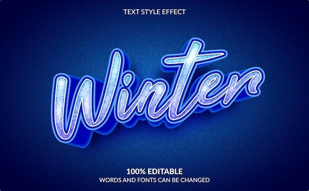 編集可能なテキスト効果、冬のテキストスタイル