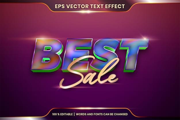 Редактируемый текстовый эффект со словами best sale