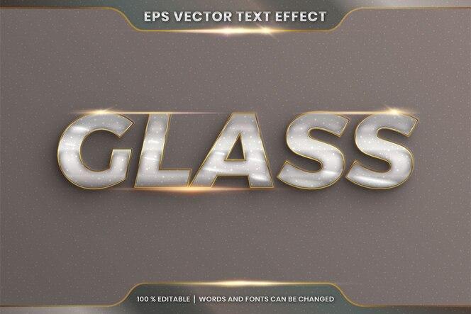Effetto testo modificabile con parola di vetro