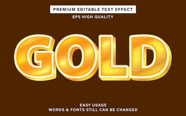 Редактируемый текстовый эффект с золотым цветом
