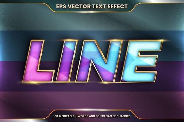 Редактируемый текстовый эффект со словом line