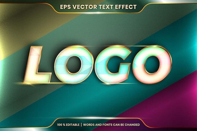 Effetto di testo modificabile con la parola del logo