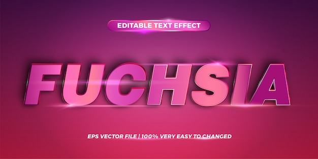 Editable text effect - word fuchsia