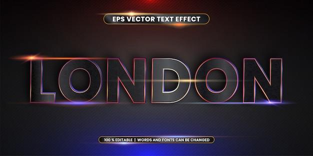 Редактируемый текстовый эффект - word london