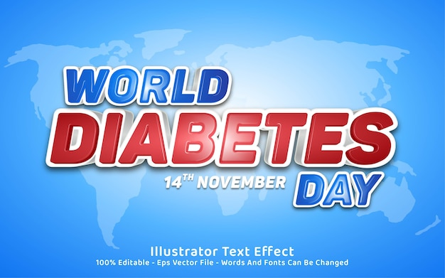 編集可能なテキスト効果、世界糖尿病デースタイル