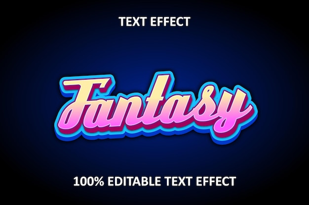 Editable text effect yellow pink