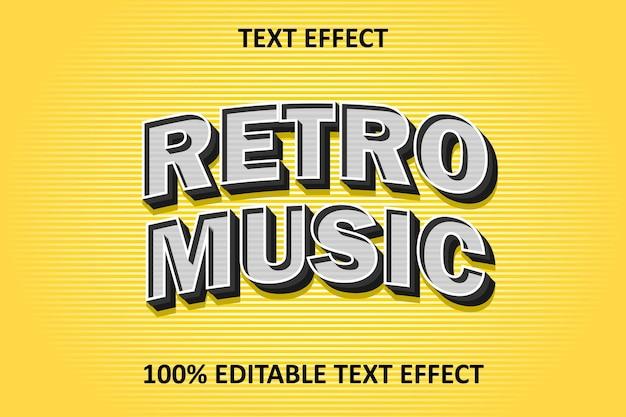 Editable text effect yellow silver retro