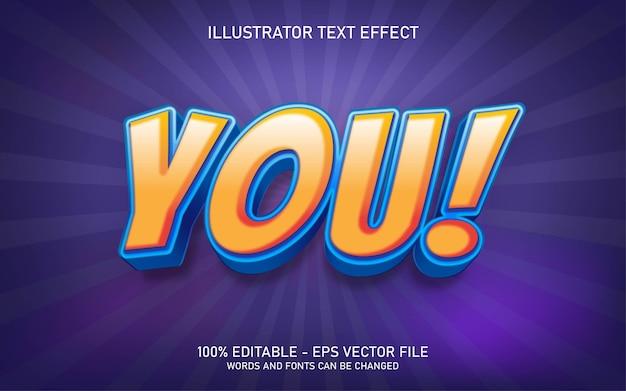편집 가능한 텍스트 효과, 당신은 일러스트레이션 스타일