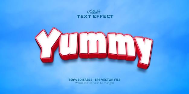 Editable text effect, yummy text