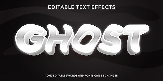 Editable text effect