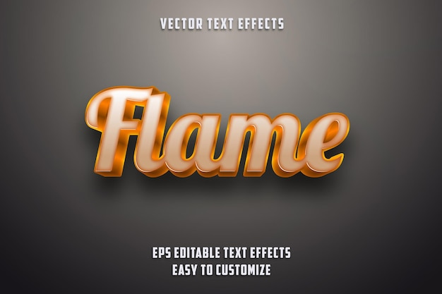 Editable text effects flame style