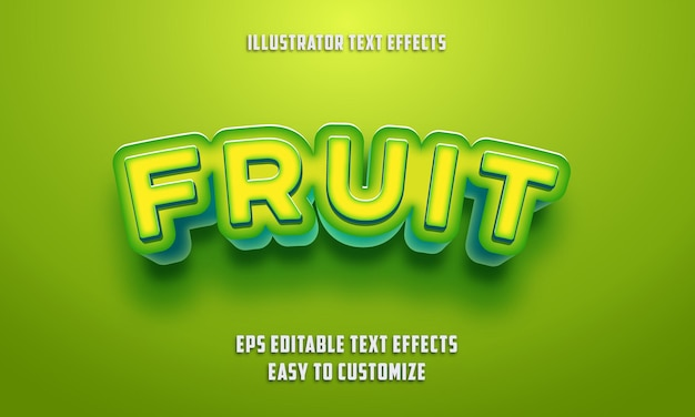 Editable text effects style on eps