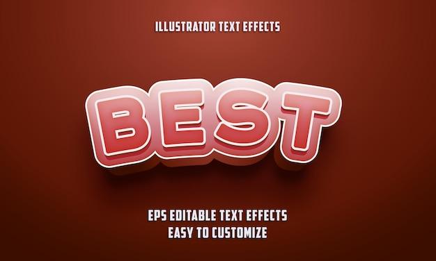 붉은 색에 편집 가능한 텍스트 효과 스타일