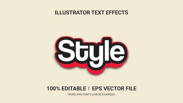 Editable text effects-style text effects