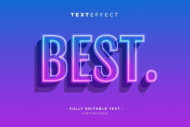 Editable text and font effect style premium template vector