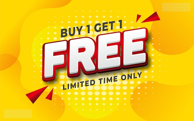 Бесплатная продажа редактируемого текста на желтом фоне