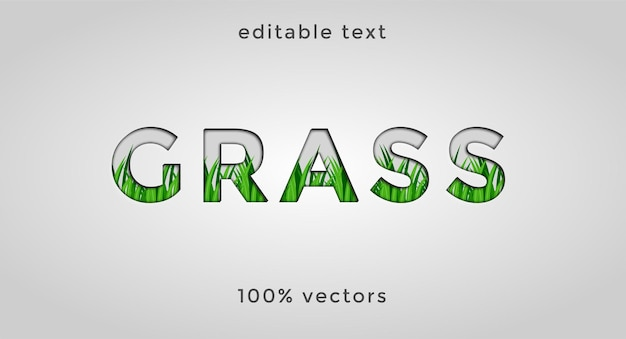 Редактируемый текст трава premium векторы