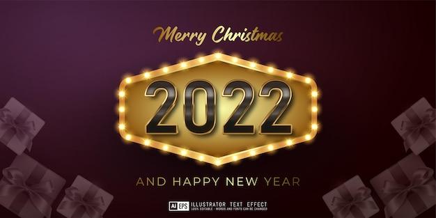 Editable text happy new year 2022 luxury design