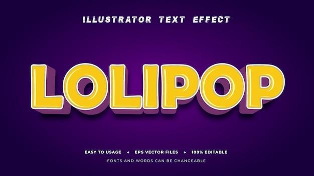 Editable_text_lolipop_style_effect