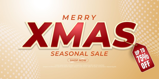 Editable text merry christmas suitable for christmas and new year banner promotion