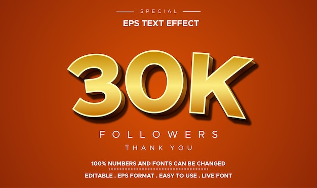 Editable text style 30k number effect