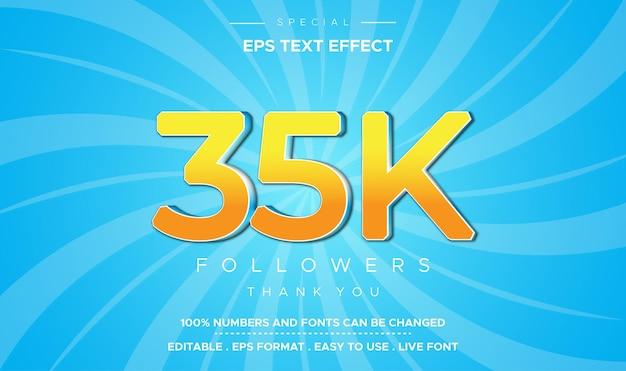 Редактируемый текстовый стиль 35k числовой эффект