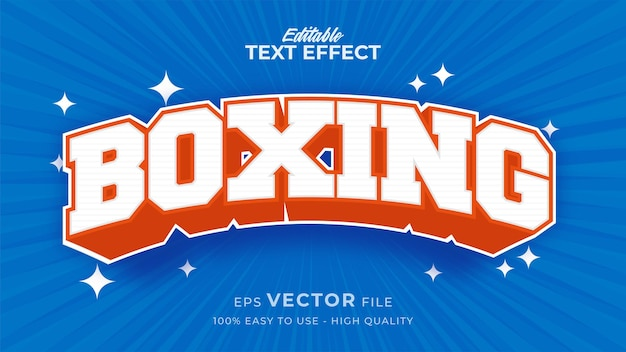 Editable text style effect - boxing sport text style theme