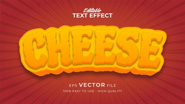 Редактируемый эффект стиля текста - тема стиля текста сыра