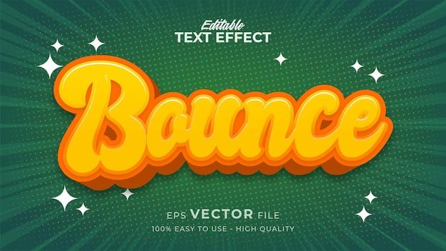 Editable text style effect - comic retro text style theme