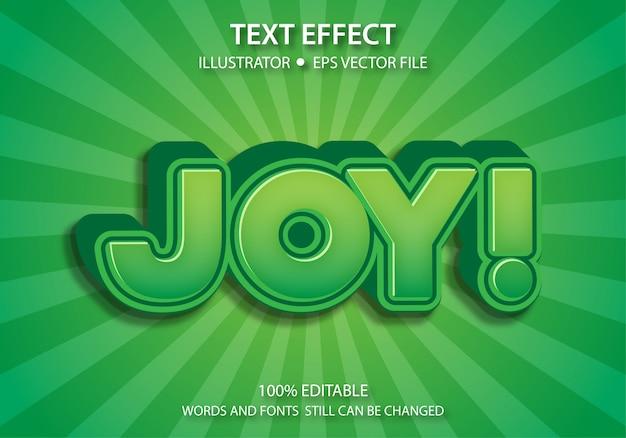 편집 가능한 텍스트 스타일 효과 cute joy premium