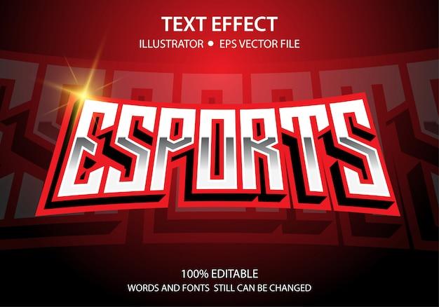 Редактируемый текст стиль эффект e-sport vector