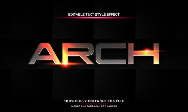 Editable text style effect futuristic theme bright color.