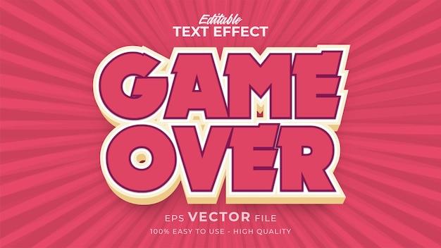 편집 가능한 텍스트 스타일 효과-게임 오버 텍스트 스타일 테마