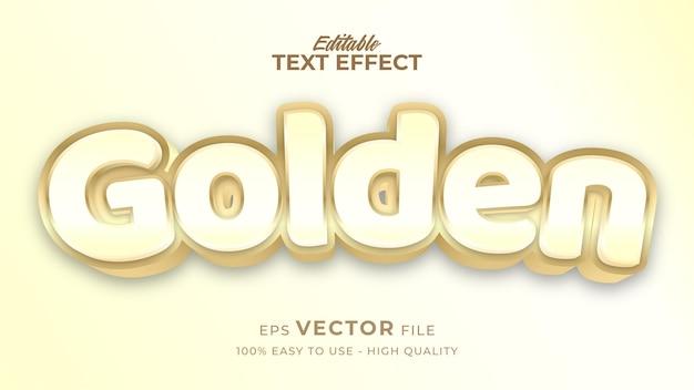 편집 가능한 텍스트 스타일 효과-흰색 텍스트 스타일 테마가있는 황금색