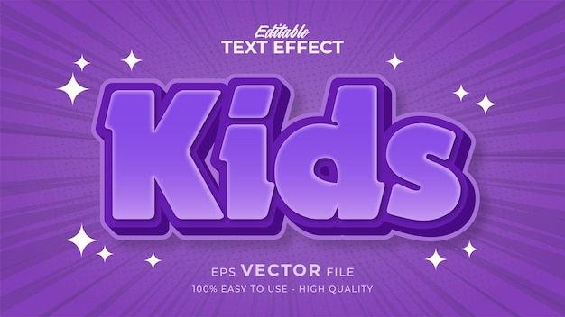 Editable text style effect - happy kids text style theme