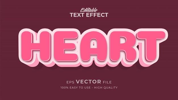 Editable text style effect - heart text style theme