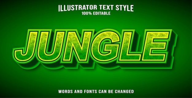Editable text style effect jungle