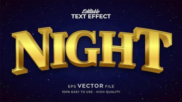 編集可能なテキストスタイル効果-夜空のテキストスタイルのテーマ