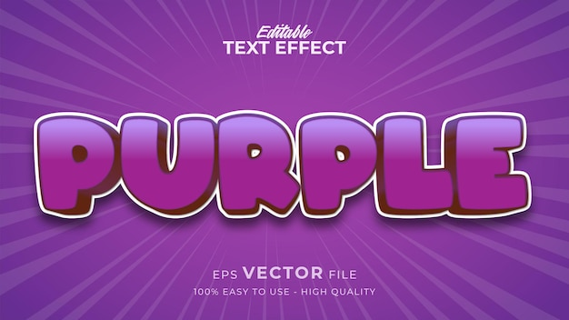 Editable text style effect - purple text style theme