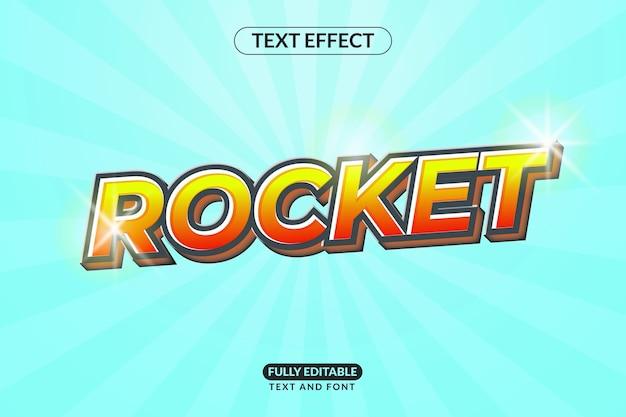 편집 가능한 텍스트 스타일 효과 로켓 발사