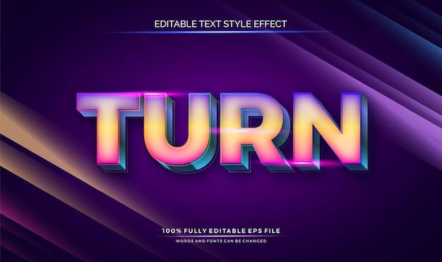 Эффект редактируемого текста в стиле яркого яркого цвета